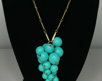SALE! vintage gold and turquoise necklace