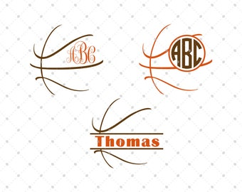Basketball SVG Cut Files, cut files for Silhouette, cut files for Cricut, svg files, Monogram frames svg, svg files, Ball svg D1