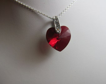 Swarovski Crystal Heart with Sterling Silver Chain