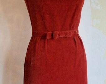 Great 60's Velvet Wiggle Dress