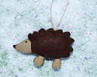 Felt Hedgehog Ornament
