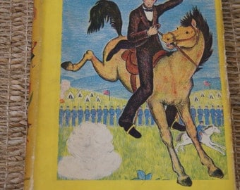 Vintage 1950's -  best in children's books doubleday #1 Cover - Abraham Lincoln