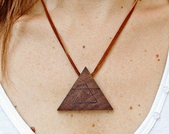 Air Element: Geometric Triangle Necklace