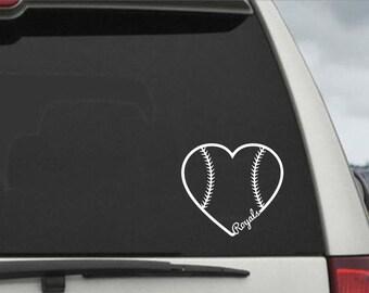 Baseball Heart Rhinestone Car Window Decal - Advocare car decal stickers