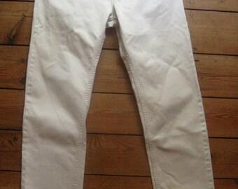 Helmut Lang '96  #creme denim jeans # exc # size 32'