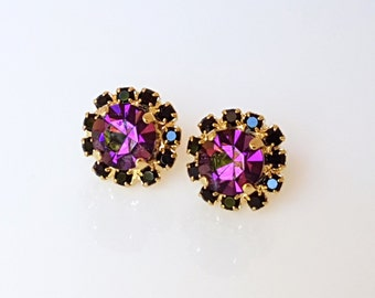 Amethyst Purple Stud Earrings, Purple Earrings, Purple Stud Earrings, Purple Earrings Studs, Amethyst Stud Earrings, Amethyst Earrings
