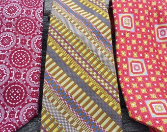 Vintage Mod Mad Man Tie Trio--3 total 1950s D403-2