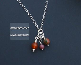 Carnelian Charm, Unakite Charm, Rhodonite Charm, Midwife Gift, Doula Gift, Unakite Necklace, Carnelian Necklace, Gemstone Charm, Reiki