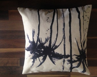 Cool Silhouette of Palm Trees Printed Cushion Cover