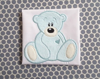 Applique Machine Embroidery Design Teddy Bear