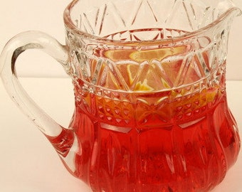 Pressed Glass Drinks Jug