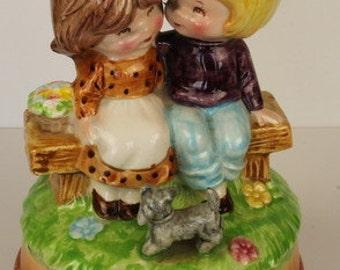 Retro Porcelain Musical Ornament