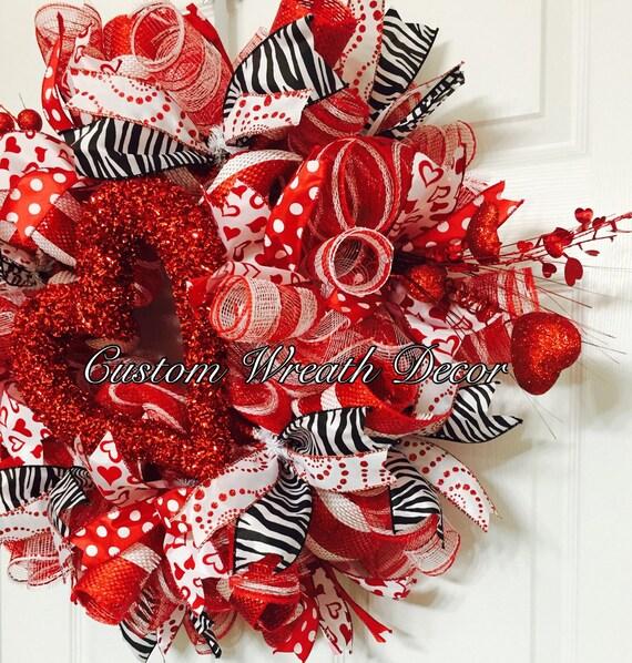 Valentine's Day Wreath Valentine Wreath Love Wreath