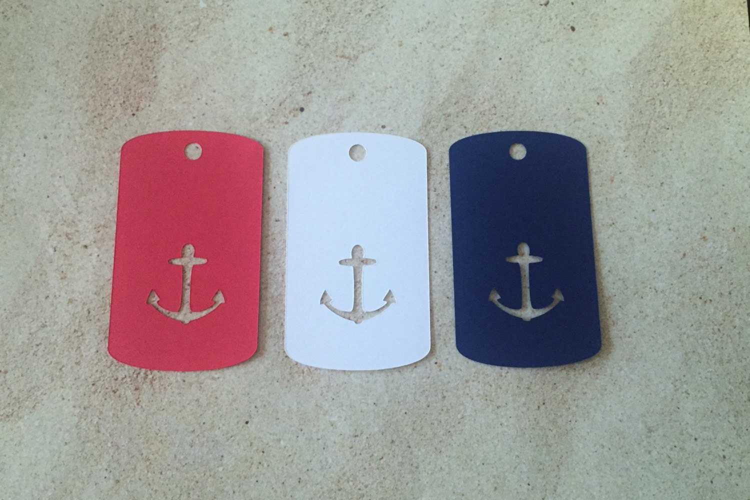 Nautical Wedding Gift Tags : Nautical Favor Tags 2 wide Anchor Gift Tags Nautical