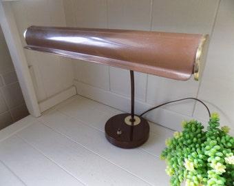 Vintage Desk Lamp, Vintage Office Lamp, Gooseneck Desk Lamp, Brown Desk Lamp, Industrial Desk Lamp, Industrial Office, Vintage Office