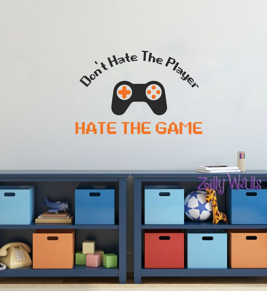 Gamer decal gamer wall decal video game room decor