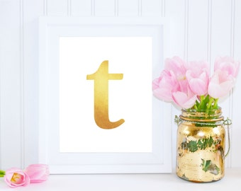Letter t wall art etsy for Letter t decoration