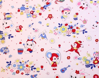 fat quarter / Japanese fabric / kawaii fabric / retro fabric / kitch fabric / animal fabric / bunny fabric / flower fabric /
