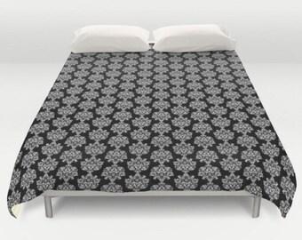 Black and White Duvet, Pattern Bedding, Classic Pattern Duvet, Black Comforter, King Queen Full Twin, Size