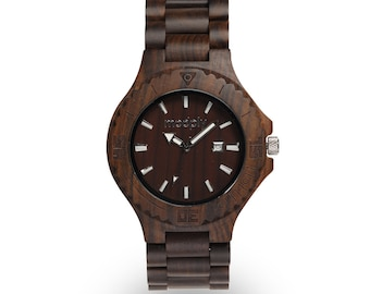 Handmade Wooden Watch, fathers day, Engrave Wood Watch, bamboo watch, Groomsmen watch, man watch, wooden watch for man, man wooden watch