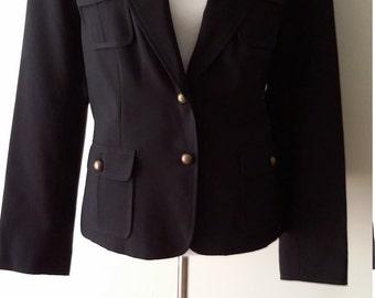 Black blazer, M, L, military blazer, military jacket, black jacket, vintage black jacket, vintage black blazer