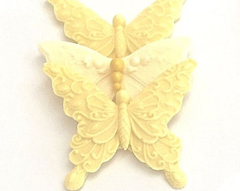 25 Beautiful Butterfly Soap Favors  Wedding, Shower, Party Vegan Gift Soaps in Organza Bags