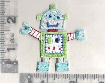 Robot iron on patch