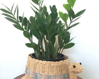 Vintage Turtle Basket, Plantholder
