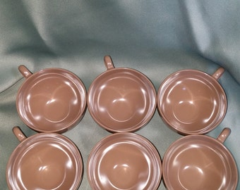 Oneida Delux Melamine/Melmac Brown Cups,  Six Cups