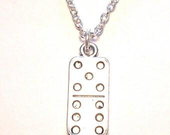 Domino Necklace, Domino Charm, Domino Pendant, Domino Jewelry, Domino Tile, Statement Necklace, Statement Charm, Statement Pendant, Object