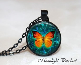 Butterfly Necklace Butterfly Jewelry Butterfly Pendant Nature Necklace Nature Pendant