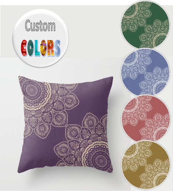 Common Decorative Pillow Sizes : Custom Decorative Throw Pillow Different sizes to Choose
