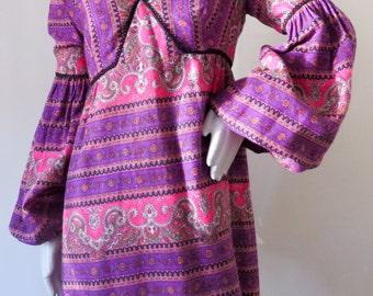 Ultimate Authentic Vintage 1960s Bohemian Hippie Dream Dress