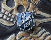 Black Satanic Army Enamel Pin