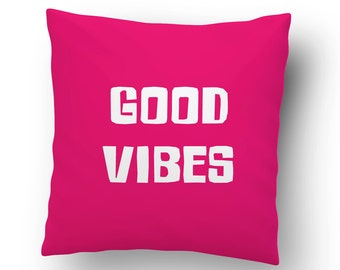 Good Vibes Throw Pillow Cover