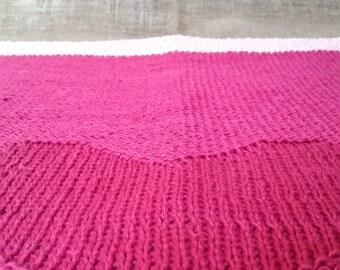Knitted Newborn Blanket. Linen Baby Blanket. Cotton Newborn Item. Handmade Baby Blanket. Hand Knit Newborn Gift.