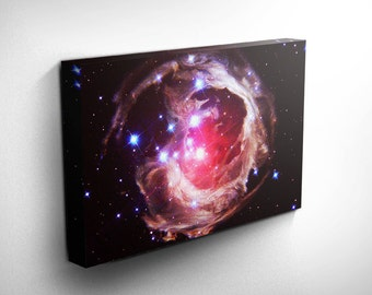Monocerotis Astronomy Print Canvas Art - Galaxy Art Print, Galaxy Decor - Outerspace birthday, outer space birthday - Gift Ideas for Teens