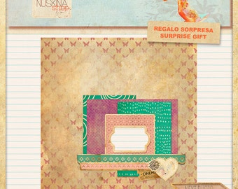 Digital quick premade page for Scrapbooking
