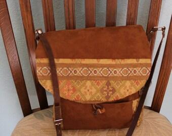 messanger handbag,leather adjustable strap,fabric