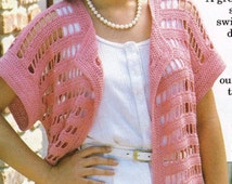 Crochet Quick & Easy Coverup Pink Tunic Top-PDF Download-One size fits all