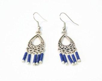 Long dangle earrings - Long drop earrings - Teardrop earrings - Dangle earrings - Filigree earrings - Drop earrings - Long earrings - Dangle