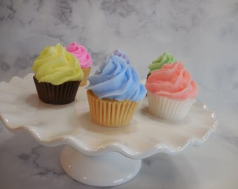 Cupcake Soaps - Bakery Soap - Cupcake Party - Mini Cupcake Soap - Food Soap - Party Favor - Glycerin Soap - Birthday Gift - Kid Soap - 10 pk