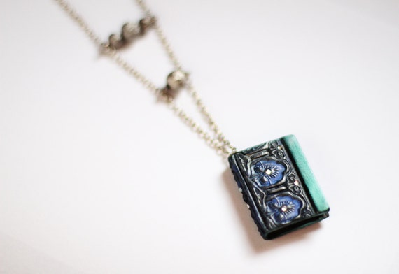 Handmade Vintage Style Book Necklace