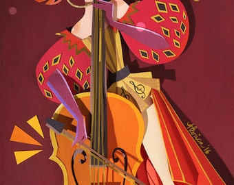 The Cello Print