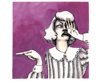 The Critics - Mauve Maligner: limited edition giclee print
