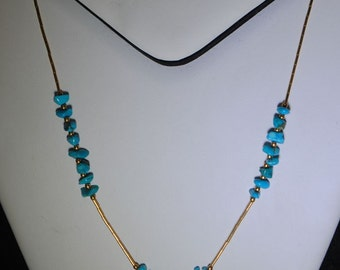 Necklace native american turquoise nuggets