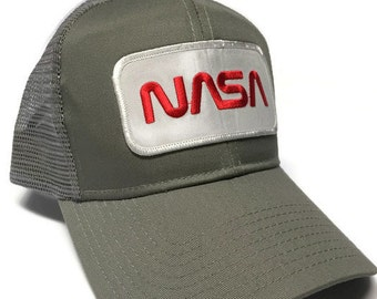 FREE Shipping - NASA Cotton Twill 6 Panel Mesh Back Cap