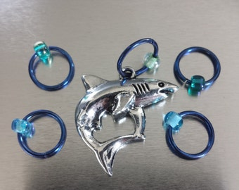 Shark #6 - Non Snag Stitch Markers