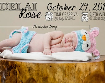 Digital Baby Announcement Photo