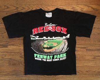 Vintage Red Sox Tshirt - 90s Boston Red Sox Fenway Park TShirt - Vintage Graphic Tshirt - Medium